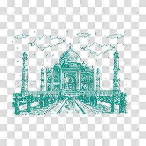 Taj Mahal Yamuna Landmark, Taj Mahal PNG clipart