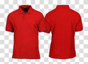 T-shirt com capuz Camisa pólo modelo, Polo, duas camisas pólo vermelhas PNG clipart