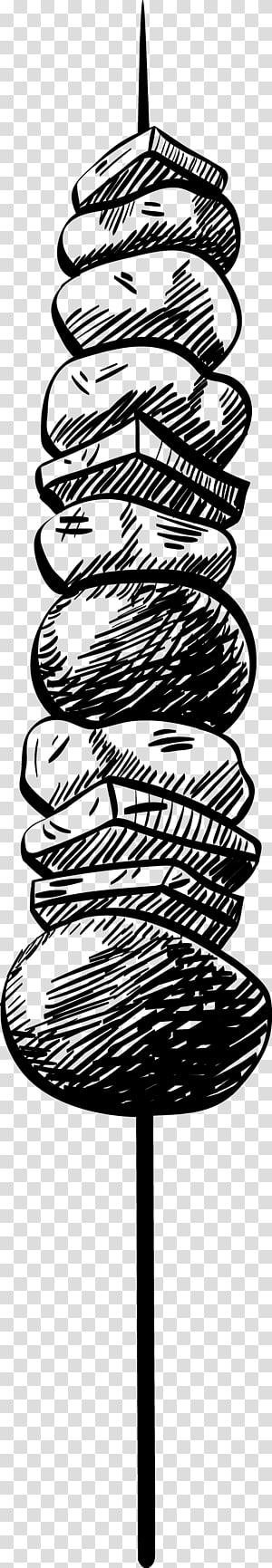 ilustração de churrasco, churrasco salsicha churrasco Barbacoa, esboço de churrasco png