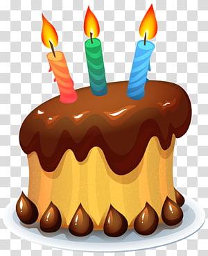 ilustração de desenhos animados de bolo de aniversário de chocolate, bolo de aniversário Bolo de casamento, bolo de aniversário png