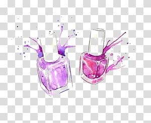ilustração de garrafas de esmaltes, esmaltes Cosmetics Drawing Illustration, esmaltes de desenho png