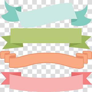Bordas e molduras Banner Scrapbooking Gráficos escaláveis, Svg grátis, quatro fitas de cores sortidas \ ilustração png
