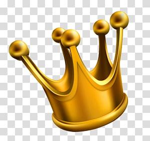 Coroa, coroa de ouro, coroa de ouro na ilustração de fundo azul PNG clipart