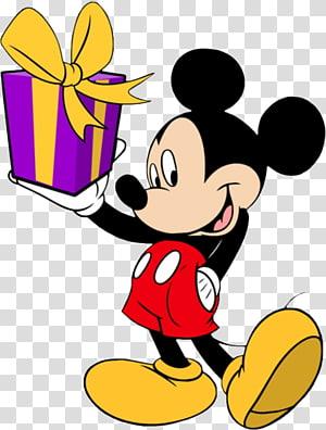 Mickey Mouse Minnie Mouse Pateta Aniversário do Pato Donald, Mickey Mouse, Mickey Mouse segurando a caixa PNG clipart