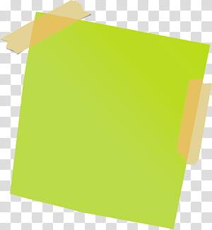 Papel adesivo Post-it, fita adesiva, lembrete, lembrete verde png
