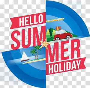 Olá logotipo de férias de verão, verão Adobe Illustrator, verão PNG clipart