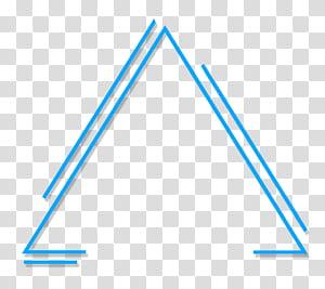 Ilustração geométrica abstrata do triângulo, triângulo azul PNG clipart