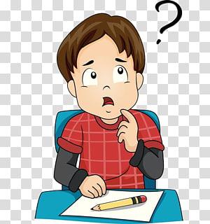 menino sentado à mesa enquanto pensava ilustração,, um menino de pensamento PNG clipart