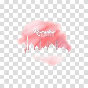 Ramadan Kareem, Ramadan Pintura em aquarela Eid Mubarak Estrela e crescente, Castelo aquarela rosa PNG clipart