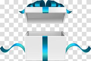 Caixa de presente branca, ilustração de caixa de presente aberta png