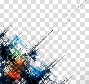Linhas abstratas simples fundo linhas pintura abstrata preto, verde e azul png