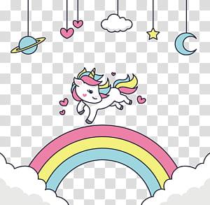 Adobe Illustrator, Feliz por executar o unicórnio, unicórnio branco PNG clipart