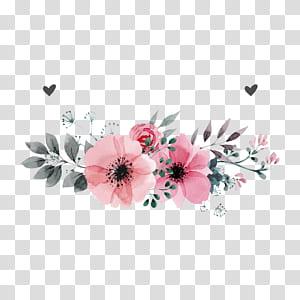 Convite de casamento flor, flores cor de rosa, ilustração de pétalas de flores rosa em fundo branco PNG clipart
