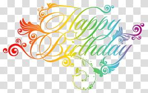 Cartão de aniversário, feliz aniversário colorido, feliz aniversário arte png