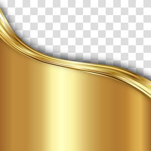 Ouro, material de linhas onduladas de textura de fundo dourado png