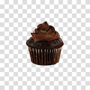 Cupcake de chocolate, Cupcake Bolo de chocolate Ganache Brownie de chocolate Muffin, Cupcakes de chocolate PNG clipart