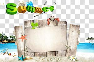 110-719 Poster Adobe Illustrator, fundo de pôster de verão, texto de verão png