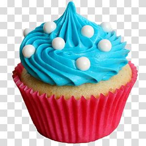 Cupcake com glacê de cerceta, Main Street Cupcakes Frosting & Icing Bakery, Cake png