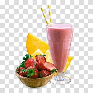 batido de morango com uma tigela de morangos, Smoothie Milkshake Suco Bebida não alcoólica Shake de saúde, batidos PNG clipart