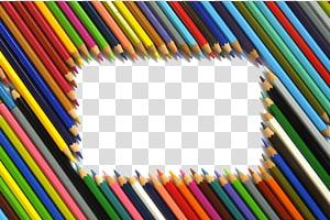 quadro com tema de lápis de cor, papel Lápis de cor Desenho Pintura em aquarela, fundo de lápis de cor PNG clipart