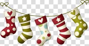 ilustração de cinco ings de Natal, meia de Natal, meias de Natal png