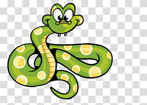 ilustração animada de cobra verde e amarela, arquivo Snake Computer, cobras dos desenhos animados Green Spot PNG clipart