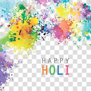 ilustração de india holi, padrão de respingo de aquarela, pintura abstrata multicolorida png