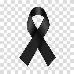fita de consciência negra, fita preta Fita de conscientização fita vermelha AIDS, FITA PRETA png