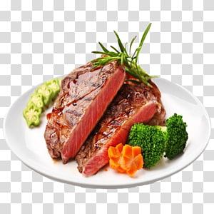 bife e legumes no prato, bife filé mignon assado, bife da Austrália PNG clipart