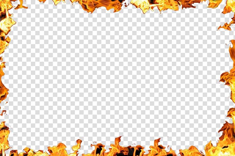 borda de chama amarela, fogo de chama, fronteira de chama PNG clipart
