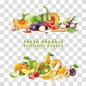 ilustração de frutas e legumes orgânicos frescos, suco de alimentos orgânicos frutas vegetais, legumes e frutas, frescos, distribuição, natureza PNG clipart