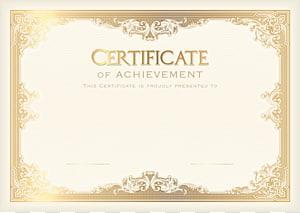 Certificado acadêmico Modelo do aluno Cartaz Escola, Modelo de certificado, Certificado de realização PNG clipart