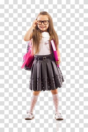 menina em uniforme escolar, estudante criança educação escolar creche, estudantes felizes PNG clipart