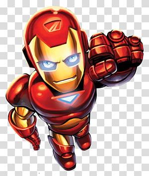 Ilustração de Ironman, Marvel Super Hero Squad Homem de Ferro Homem-Aranha Capitão América Hulk, super-herói png