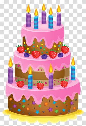 ilustração de bolo de aniversário, bolo de aniversário Bolo de chocolate, bolo fofo png