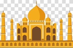 Ilustração do Taj Mahal, Mesquita da Igreja Islã, Igreja Islâmica Amarela PNG clipart