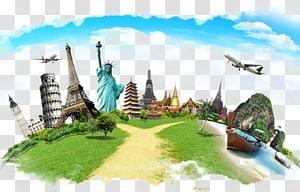 Agente de viagens Resolução corporativa de gerenciamento de viagens Hotel, Terra criativa e locais de construção, marcos mundialmente famosos PNG clipart
