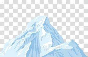 ilustração de montanha coberta de gelo, iceberg, iceberg PNG clipart