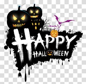Feliz dia das bruxas sinal, o feriado da árvore de Halloween, feliz dia das bruxas feliz, dia das bruxas PNG clipart