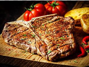 Chophouse restaurant T-bone steak Grelhar Doneness, grelha PNG clipart