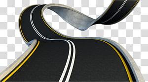 estrada preta com linhas brancas e amarelas, estrada rodovia, estrada rodovia png