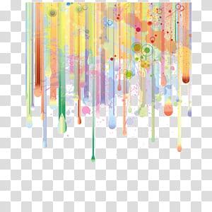 Pintura em aquarela Ilustração, gradiente, padrão decorativo de fundo, cartaz, banner fundo, linha, pintura abstrata de vermelho, amarelo e verde PNG clipart