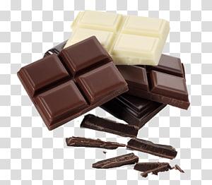 Pedaço de leite com chocolate branco, chocolate PNG clipart