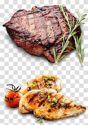 bife de lombo e filé de frango grelhado, cordeiro e carne de carneiro Barbecue Beefsteak Roasting Restaurant, Rib Eye Steak PNG clipart