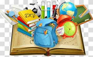 Student School Teacher Education, Material escolar em livros, equipamento de estudo multicolorido PNG clipart