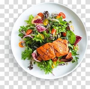 Hambúrguer Street food Frutos do mar Fast food, comida deliciosa, salmão com salada de legumes no prato PNG clipart