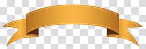 Banner, faixa laranja, fita marrom png