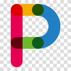 Logotipo P, vermelho azul letra P, cor letras P PNG clipart