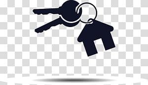 ilustração de chave de casa, casa chave logotipo imobiliário, chaves PNG clipart