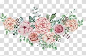 Cartaz Casamento Flor, Aquarela flores conjunto de flores, ganhos de flores cor de rosa PNG clipart